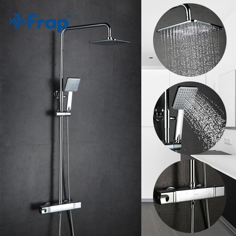 FRAP mural salle de bain robinets thermostatiques baignoire douche robinet mitigeur cascade froid et chaud mitigeur douche robinets FLD1197