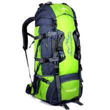 2017 new 80L liter multifunctional climbing bag female outdoor sports backpack nylon Nylon Backpack Backpack