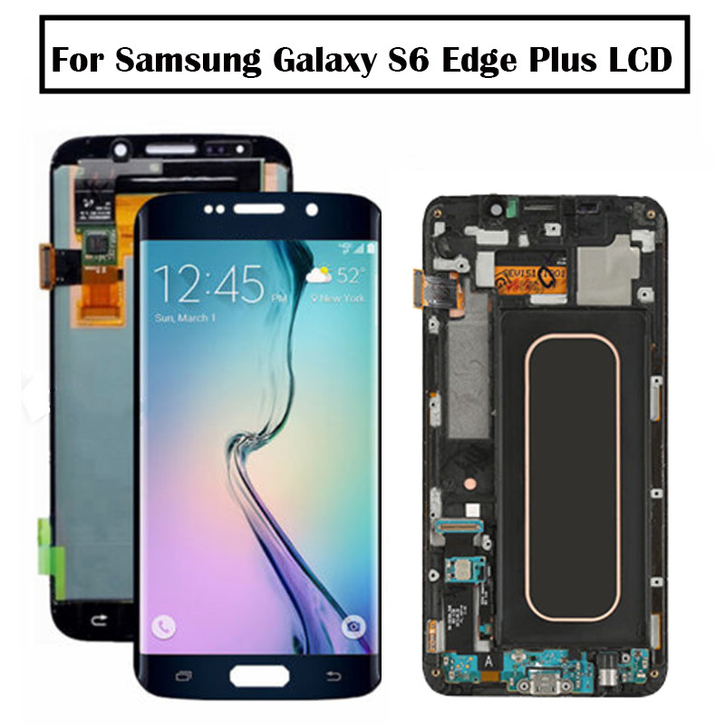 For Samsung Galaxy S6 Edge Plus LCD G928 G928F Display Touch Screen Assembly Replacement For 5.7 SAMSUNG S6 Edge Plus LCD+frameFor Samsung Galaxy S6 Edge Plus LCD G928 G928F Display Touch Screen Assembly Replacement For 5.7 SAMSUNG S6 Edge Plus LCD+frame