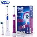 Oral B перезаряжаемая электрическая зубная щетка для отбеливания зубов PRO600 Plus 3D Action ультразвуковая вращающаяся электрическая зубная щетка