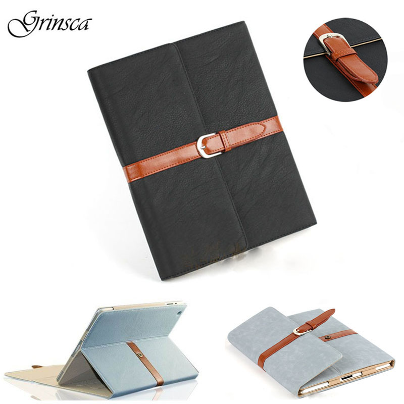 for ipad Air 1 Case Smart PU Leather Sleeve for iPad mini 1 2 3 Case Retro Folio Stand Buckle Cover Auto Sleep flip left and right stand pu leather case cover for blu vivo air