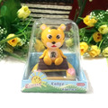 Free Shipping Retail Packing Swing Head  Under Full Light  No Battery Cartoon Promotion Gift And Toy Solar  Energy Dancing Tiger