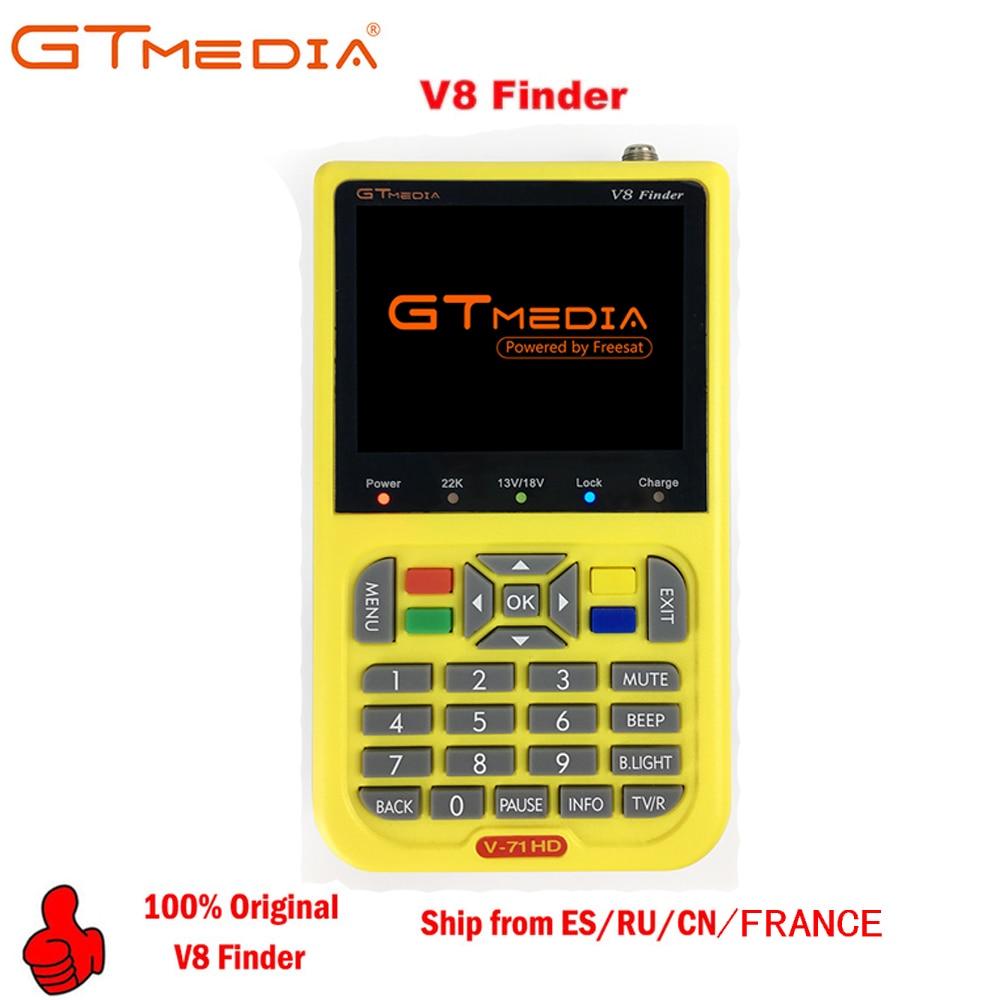 V8 Finder GTMEDIA/Freesat V8 Full HD 1080P Digital Satellite Network TV Receiver DVB-S/S2 MPEG-4 Multilingual Sat Meter Receptor