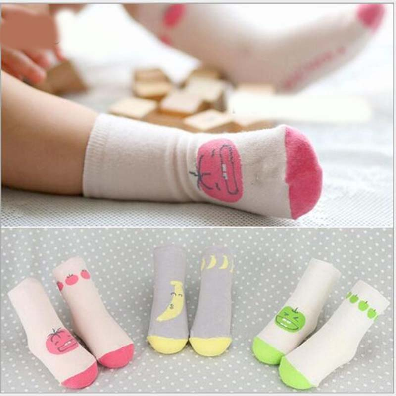 ⓪Niños bebé pequeño bebé Calcetines poco fruto algodón calcetín de ...