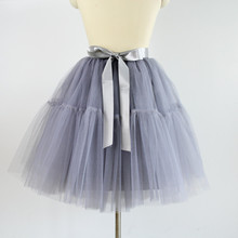 Yuppies Fashion 5 Layers 55cm Tutu Tulle Skirt Vintage Midi Skirt Pleated Skirts Womens Lolita Petticoat faldas Mujer saias jupe