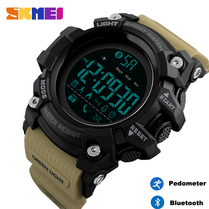 <font><b>SKMEI</b></font> Bluetooth Smart Watch Brand Pedometer Calories Digital Sports Clock Military Waterproof Men Wristwatch relogio inteligente image