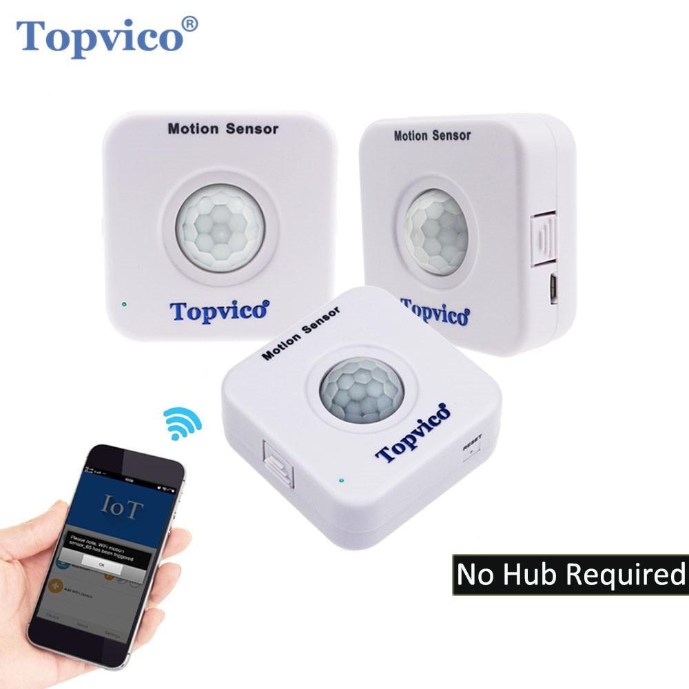 Topvico 3pcs WIFI Motion Sensor APP Control PIR Sensor WIFI Movement Motion Detector Alarm Wireless Home
