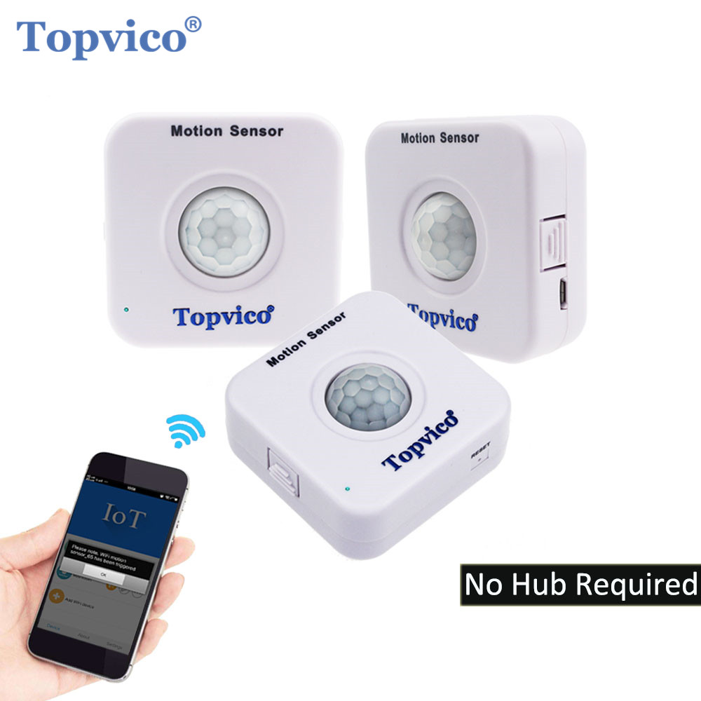 Topvico 3pcs WIFI Motion Sensor APP Control PIR Sensor WIFI Movement Motion  Detector Alarm Wireless Home House Security System