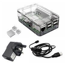 Big discount Elecrow Raspberry Pi 3 Starter Kit UK Plug Power Supply+ Heatsinks and Micro USB with On/Off Switch Clear Case Raspberry Pi