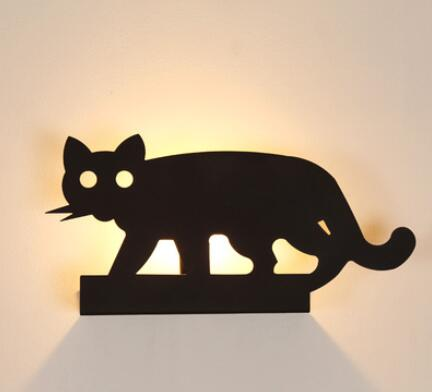 Nordic personalized Wall Lamps creative lighting living room restaurant classic design cat lamp black cat sergeant LU80374Nordic personalized Wall Lamps creative lighting living room restaurant classic design cat lamp black cat sergeant LU80374