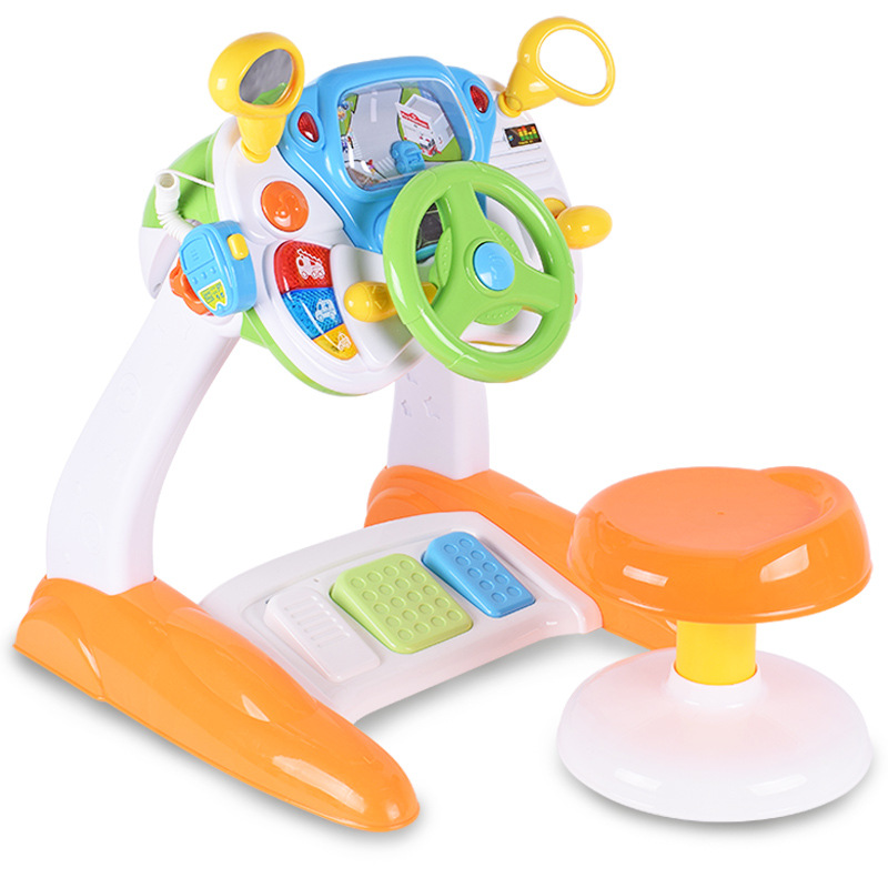 Music Real Life Cab Baby Multi-function Game Table 1-3 Years Old Puzzle Steering Table Study Table Toys for Children Juguetes