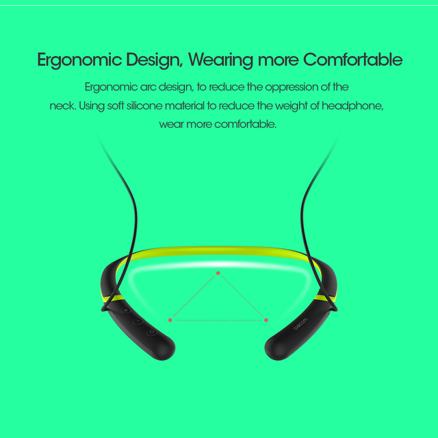 DACOM L02 Bluetooth Headphones Sports Neckband Wireless Headset with Mic Magnetic In Ear Music Earphones for iPhone Samsung