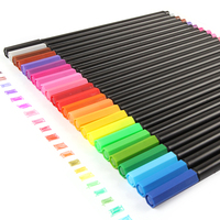 0 4 Mm 24 Colors Fineliner Pens Super Fine Marker Pen Water Based Assorted Ink Arts