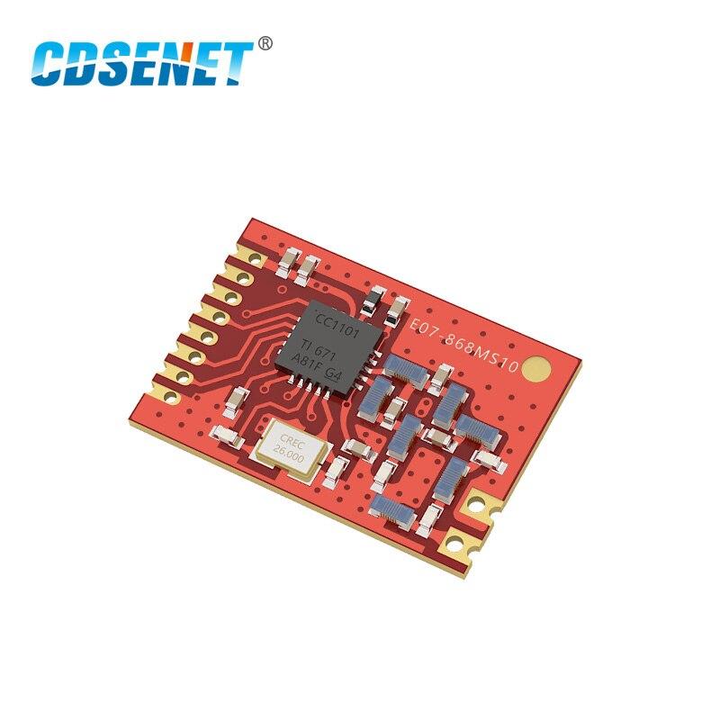Беспроводной приемопередатчик CC1101 868 МГц, радиочастотный модуль CDSENET, приемник 10 мВт с низкой мощностью SPI SMD, передатчик 868 МГц, CC1101
