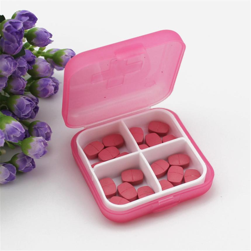 Коробка для хранения 2018 Новый мини крест 4 Сетка ПП пластиковый pill box Портативный хранения комплект портативный медицинский комплект May2