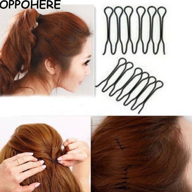4pc Hair Twist Clip Hairstyles Hair Barrette Metal Black Hairpins