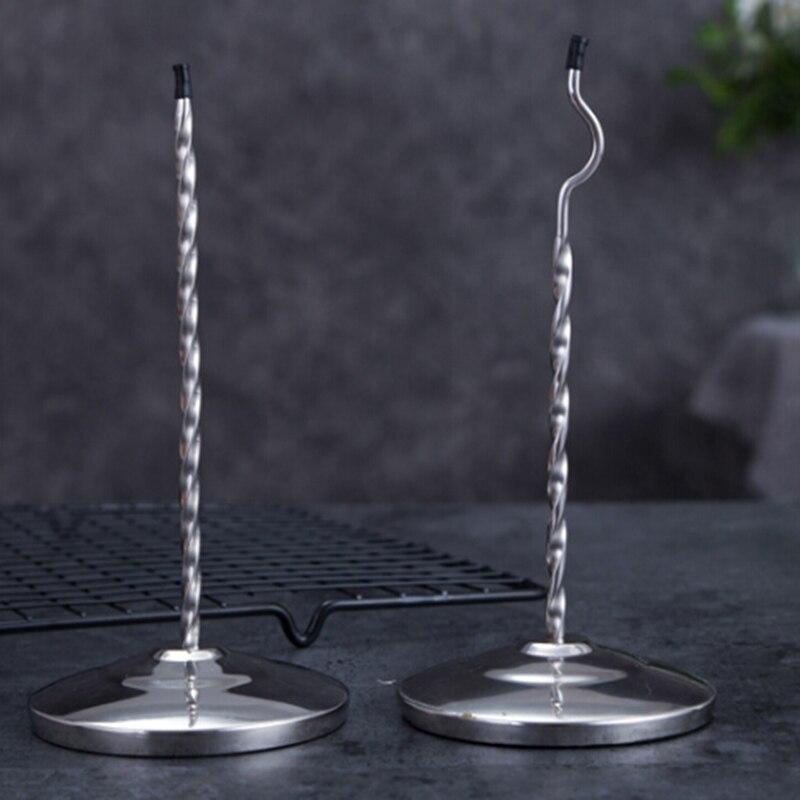 High Quality Stainless Steel Long Curving Rod Memo Holder Spike Stick Bill Fork For Receipt Office Desk