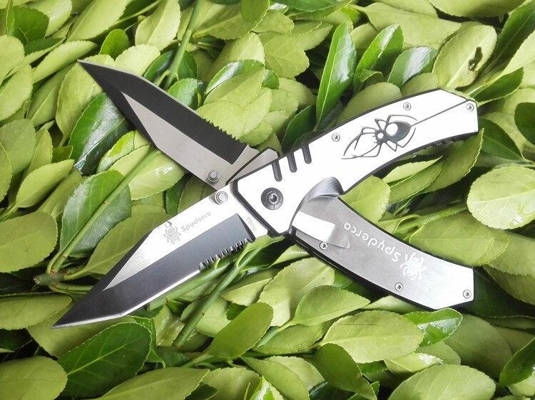 Half Tooth Folding font b Knife b font Outdoors EDC Tools font b Hunting b font
