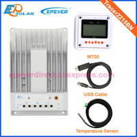 Большой низкой цене контроллер MPPT солнечные панели регулятора USB и датчик температуры Tracer2215BN MT50 20A 20 Ампер 12 В/ 24 В