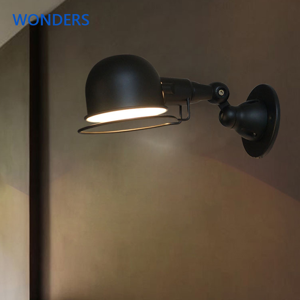 Classic Nordic loft adjustable Wall Lamp Vintage sconce wall lights E14  Mechanical Arm bedside lamps industrial sconce