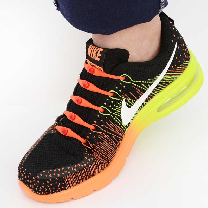 3 tamaños/Set moda negro redondo creativo sin lazo cordones de zapatillas unisex de silicona elástica cordones de zapatos hombres mujeres todas las zapatillas de deporte ajuste Correa V037