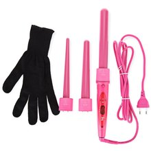 Professional Hair Curling Wand Set Interchangeable 3 Parts Clip Wand Curling Iron Hair Curler Hair Styling Tools Kits modelador