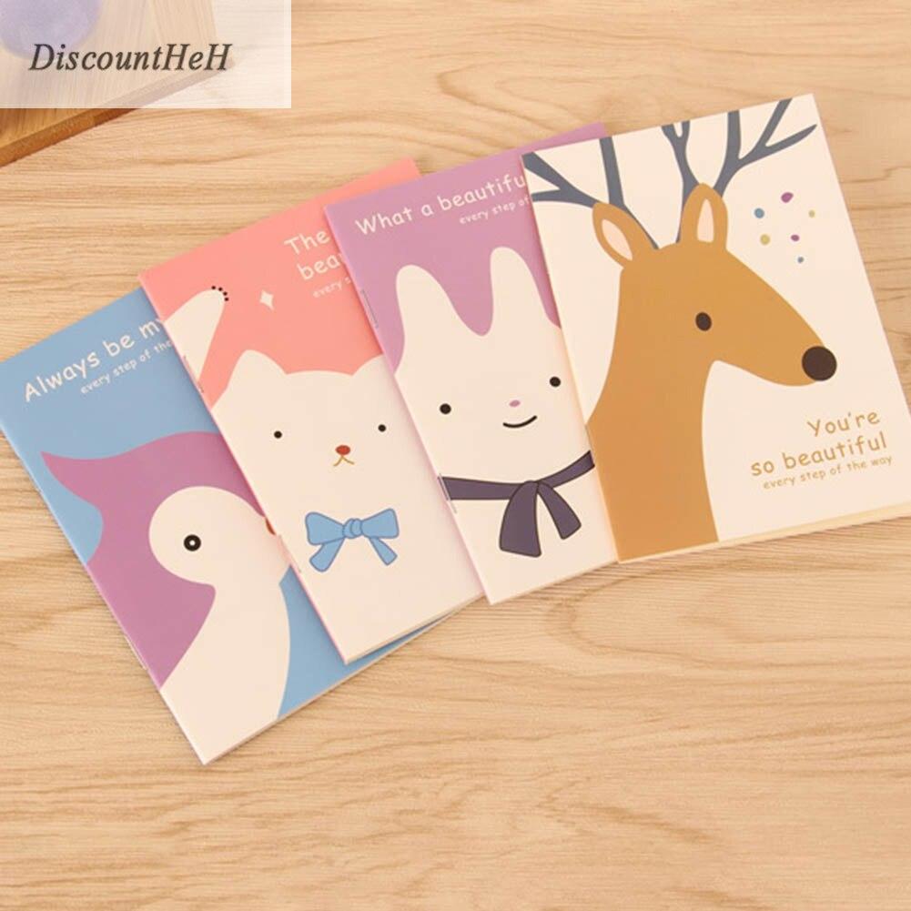 1 unid Lindo Mini Cuaderno de Flor de La Vendimia Animal Encantador - Blocs de notas y cuadernos