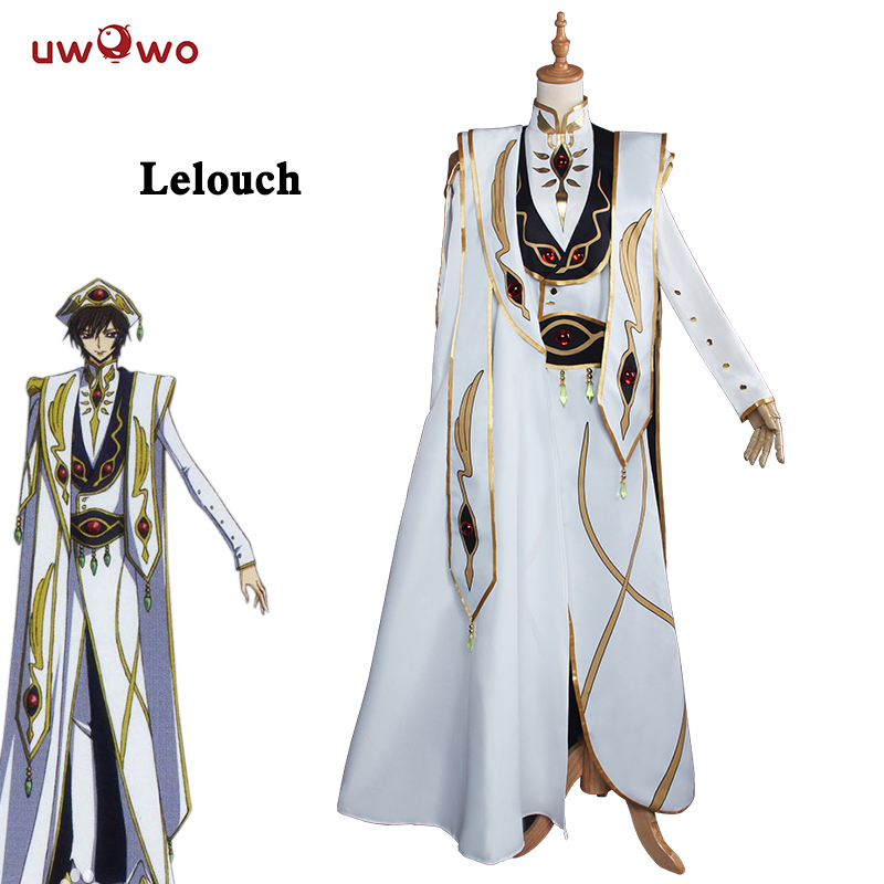 UWOWO Lelouch Lamperou CODE GEASS Cosplay Lelouch of the Rebellion Empereur Ver. Uniforme Costume Anime CODE GEASS Cosplay