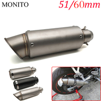 For Honda CBR250R CBR 250R VFR 1200 F VFR1200 NC 750 S/X Motorcycle SC Exhaust Pipe Scooter Escape GP Exhaust Muffler Universal