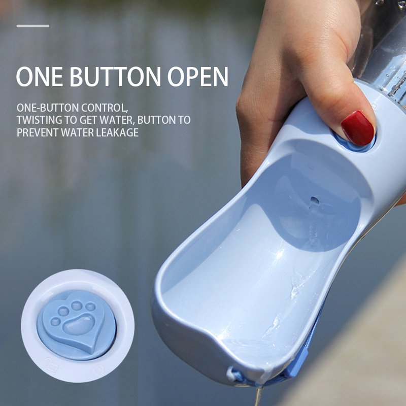 250ML Portable Pet Dog Water Bottle Travel Puppy Cat Drink Bowl Outdoor Outside Pet Water Squeeze Dispenser Feeder