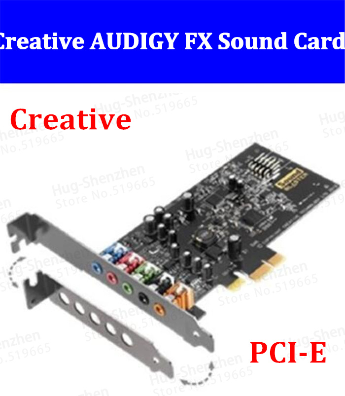 Creativ AUDIGY FX 5.1 Channel PCI-E Sound Card for Creative Music game movie sound card ess 4 1 channel pci sound card red