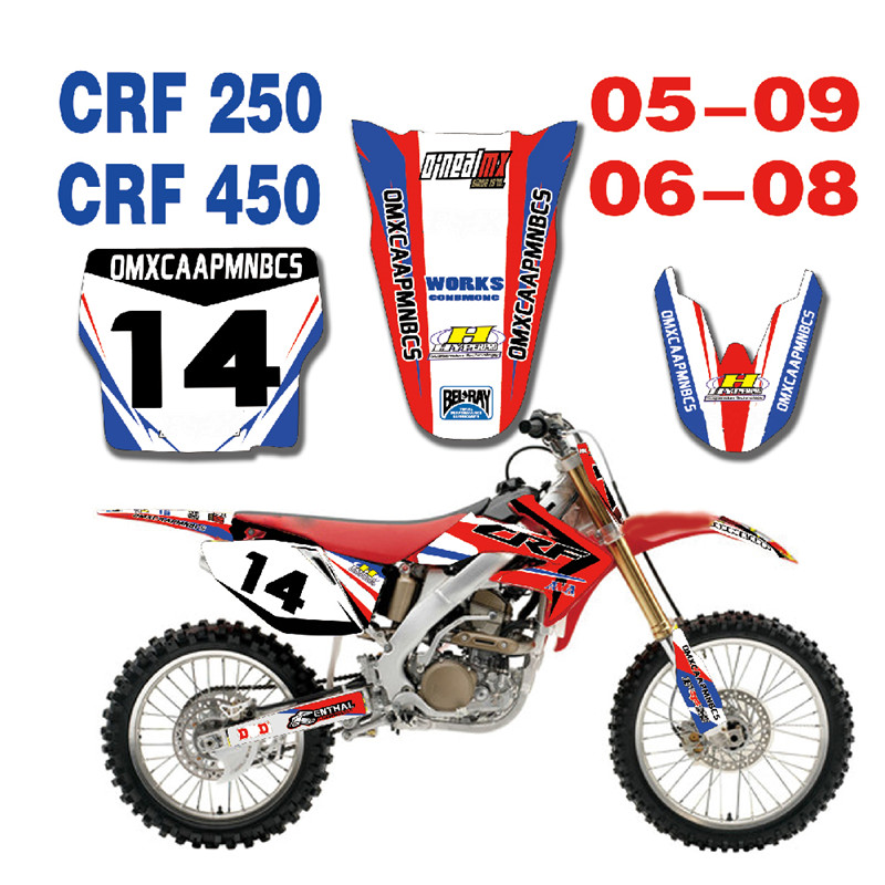 2006 Honda Crf450r: Complete Set Free Customized Number Gloss GRAPHICS DECAL