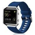 V-MORO Suave Pulsera de Silicona Correa Para Fitbit Banda de Incendio De Fitness Inteligente Reloj Ls tamaño