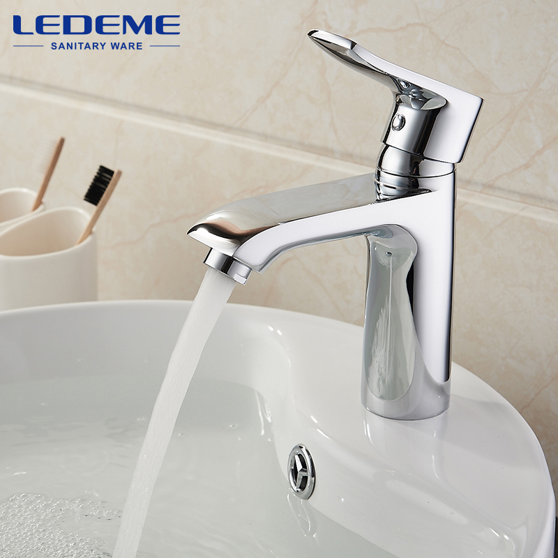 ledeme bathroom faucet basin faucets hot and cold water deck single handle sink mixer chrome