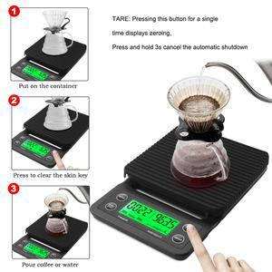 Image 2 - 3kg/0.1g 5kg/0.1g Drip Coffee Scale With Timer Portable Electronic Digital Kitchen Scale High Precision LCD Electronic Scales
