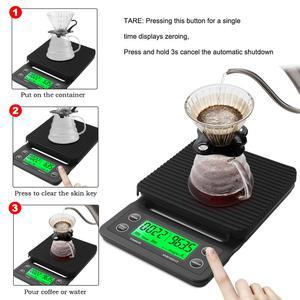 Image 3 - 타이머가 있는 휴대용 드립 커피 저울, 3kg/0.1g 5kg/0.1g 전자 디지털 주방용 저울, 고정밀 LCD 전자 저울
