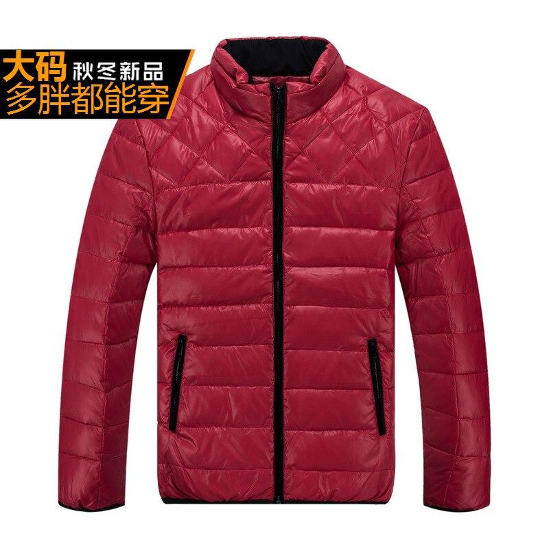 Erkek Kıyafeti'ten Şişme Ceketler'de Erkekler kış sıcak ekstra büyük rahat ceket uzun kaban kırmızı renk thich giysileri büyük artı büyük boy 8XL 9XL 10XL 11XL 12XL 13XL'da  Grup 1