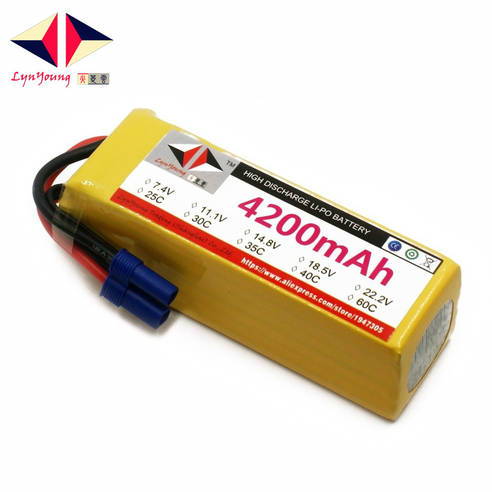 LYNYOUNG 6S lipo battery 22.2V 4200mAh 35C max 70C for RC airplane car boat drone helicopter 2pcs hrb rc lipo 3s battery 11 1v 3000mah 35c max 70c drone akku for rc bateria helicopter airplane car boat quadcopter uav fpv