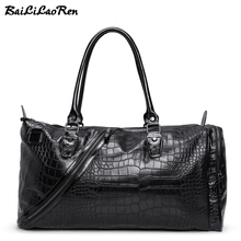 Baililaoren бренд Для мужчин Дорожные сумки кожаная дорожная Сумки Чемодан путешествовать Сумки большой Ёмкость мужской Мужская тотализаторов большой выходные сумка