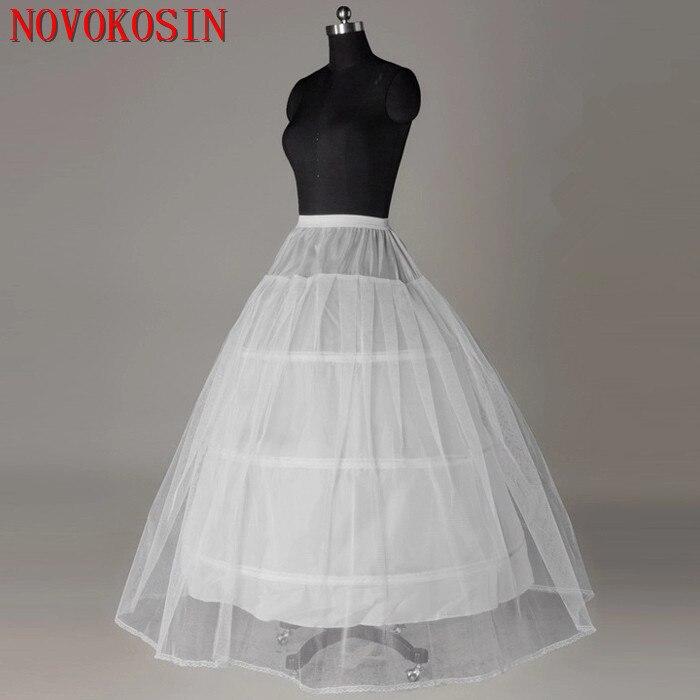2019 Plus Size 120cm Waist 3 Steel Ring 1 Layer Tulle Appliqued Edge Bridal Wedding Petticoat 2.1M Big Circle Bride Accessories