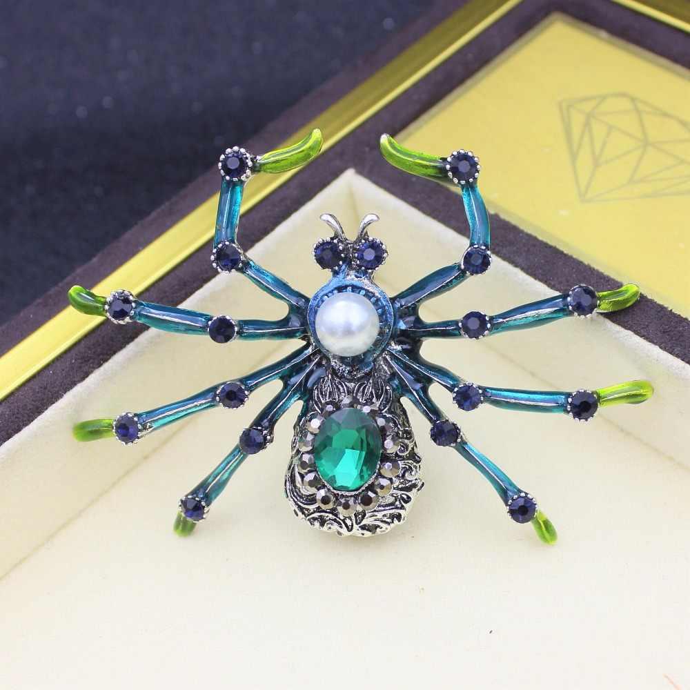 Grande acessórios de metal strass esmalte pinos esmalte verde broche de lapela pino masculino jóias