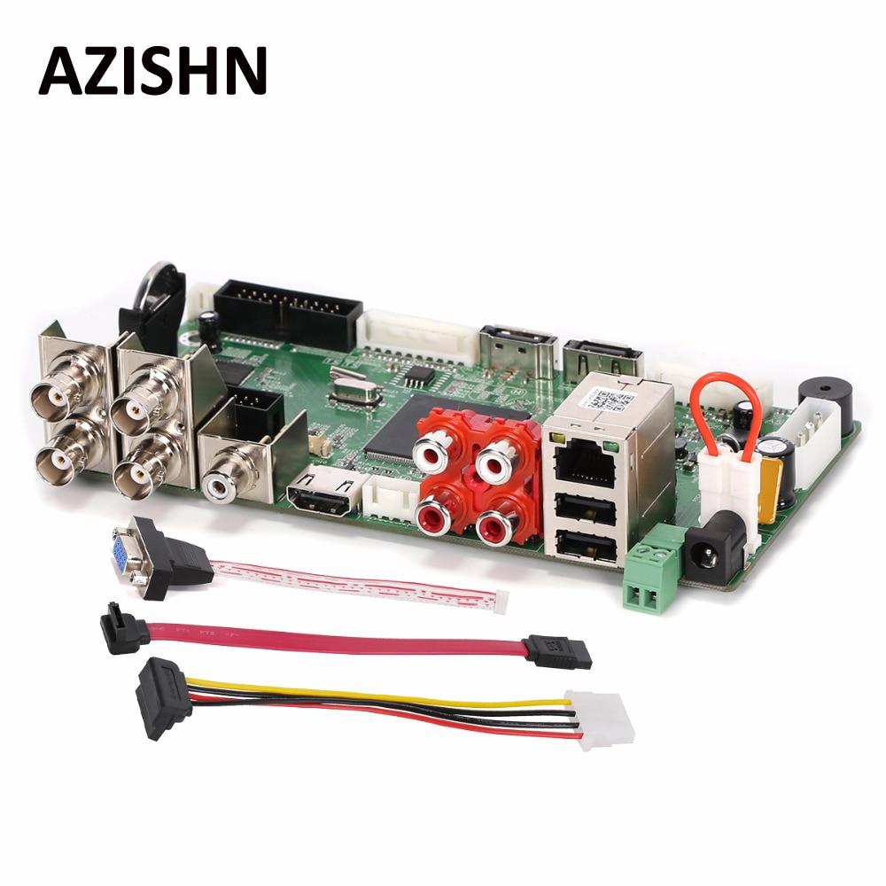 AZISHN CCTV H.264 AHD DVR 4CH1080N Hybrid AHD/CVI/TVI/CVBS 960H D1 CIF 8CH 1080P NVR Motion detection,HDMI 5 in 1 Main Board 8ch ahd 960h d1 recording cctv standalone hybrid dvr recorder 8ch 700tvl color cmos ir weatherproof indoor dome cameras