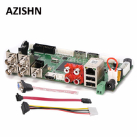 AZISHN CCTV H.264 AHD DVR 4CH1080N Hybrid AHD/CVI/TVI/CVBS 960H D1 CIF 8CH 1080P NVR Motion detection,HDMI 5 in 1 Main Board