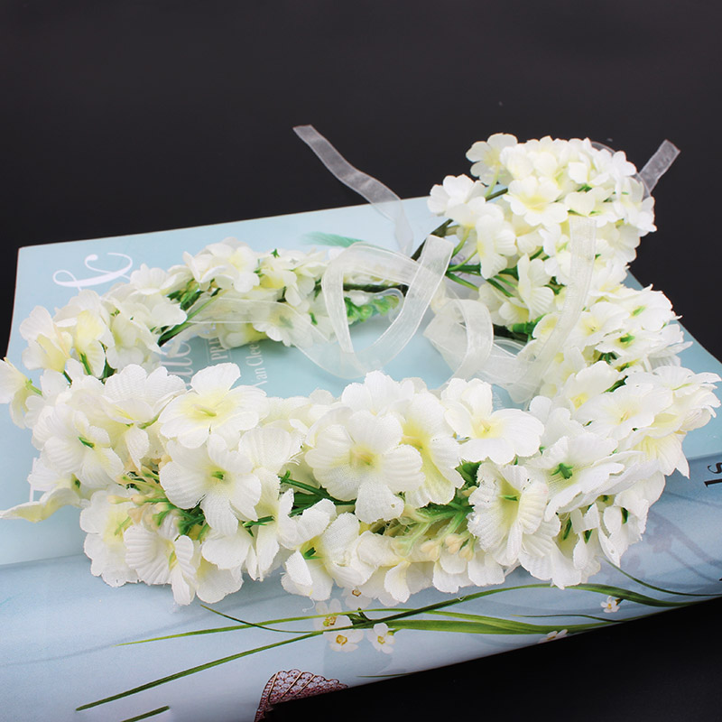 New fashion bride big white flowers headband wedding party girl new fashion bride big white flowers headband wedding party girl women hair floral wreath hair band lady hair accessories in hair jewelry from jewelry mightylinksfo