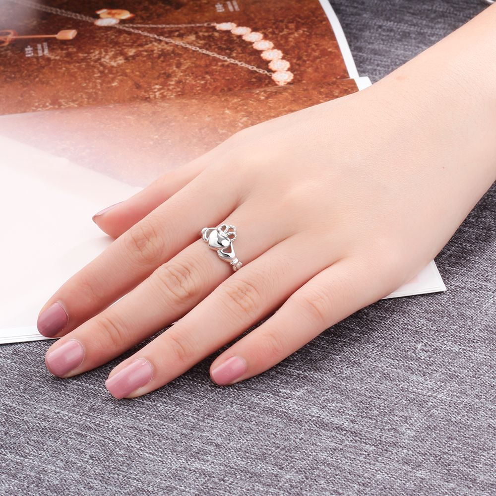 Aliexpress.com : Buy 925 Sterling Silver Claddagh Rings For Women ...
