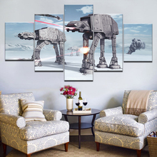 5 Panel HD Print Fotobehang Star Wars battle of hoth movie On Canvas Art Painting For home living room decoration
