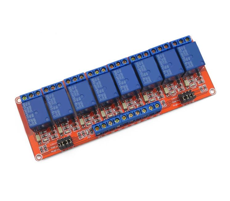 8 load way relay module 24V expansion board suport high or low trigger