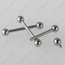 Boucles doreilles en titane fileté, bijoux internes, faux bouchon, bijoux en forme de Cartilage, 16G 14G G23