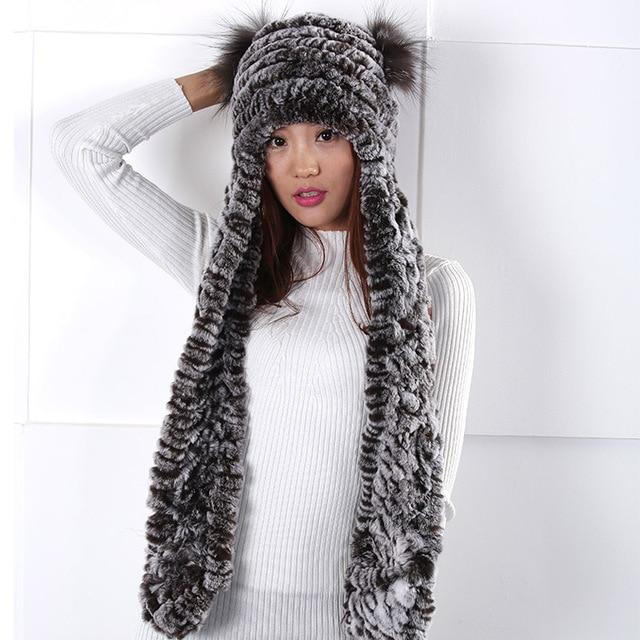 2016 New Fur hat scarf piece women warm winter scarves hats fashion lovely  Fashion personality simple  elegant  Women wool hat