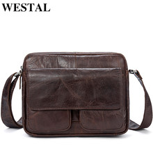 WESTAL Messenger bag Men's Shoulder Bags Genuine Leather male shoulder bag for men's leather handbag crossbody bags for men 8931(China)
